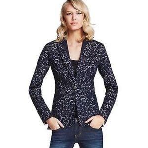 Cabi Women jacquard wool bland blazer